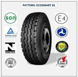 12.00r24 (ECOSMART 81) mit Qualitäts-LKW der Europa-Bescheinigungs-(ECE-REICHWEITE-KENNSATZ) u. Bus-Radialgummireifen