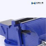 Un tornillo de banco en miniatura de 3 pulgadas con azul Hammertone