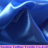 Surface lisse en polyester pour dame Tissu satin robe