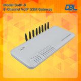 8 canais GSM Gateway VoIP novíssimo Dbl Quad Band 8 canais GSM GoIP8