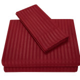 1500 Contagem de segmentos deep pocket Stripe Tecido de microfibra Lençol Definido