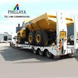 Eje 3 de la excavadora de cuello de cisne de Transporte Pesado Lowbed Loader camión remolque semi