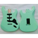 Тело гитары старта ольшаника зеленого цвета прибоя нитро законченный