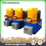 Resíduos de madeira de biomassa pequenas usinas de pelotização Flat Die máquina para venda