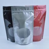 La impresión de plástico herméticamente el papel de aluminio bolsa de té con cremallera con alta calidad