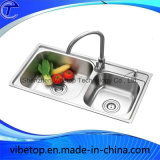 Fábrica Atacado Double Bowls Stainless Steel Kitchen Sink