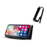 Ретро-PU мобильного телефона Wallet чехол для iPhone X-синего цвета