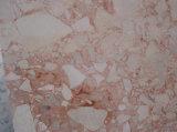 花のベージュ大理石の大きい平板の大理石