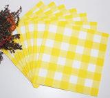 暖かく黄色い一等級カラーによってAirlaidの印刷される紙ナプキン