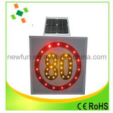 LED clignotante solaire Customed signe de la circulation accepter