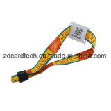 Контроль доступа билеты тканого браслет RFID тканого браслет