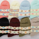 Form-bunte Baumwollterry-Socken-Frauen-Socken