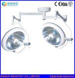 Hospital qualificada Montado no Tecto Shadowless cabeça dupla lâmpada de funcionamento de halogéneo