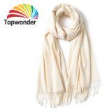 Xale de moda, feitas de acrílico, de algodão e poliéster, lã, Royan, baixa quantidade mínima, cores e tamanhos disponíveis