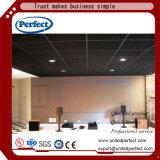 Panneau de plafond suspendu au plafond noir de cloison acoustique de fibre de verre