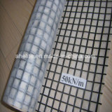 100X100kn glasvezel Glassfiber Geogrid met het Bitumen SBR met een laag die wordt bedekt die van het Asfalt
