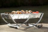 Grade imediata do BBQ com carrinhos e sustentações em usos duplos
