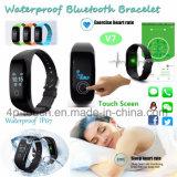 cadeau de promotion Smart Bracelet en silicone avec moniteur de fréquence cardiaque V7