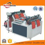 Computer-Steuerwärme-Ausschnitt-Beutel, der Maschine (doppelte, herstellt Zeile)
