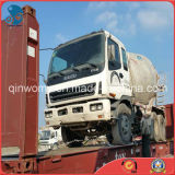 2008~2010 Libres-Repaint Plats-Rack-Container-Shipping Used 6*4-LHD 15ton/6~8cbm Isuzu Concrete Mixer Truck