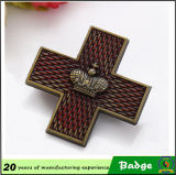 Metallo Cross Shape Badge per Souvenir