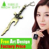 Relógio animal macio de Keychain dos desenhos animados do PVC da liga feita sob encomenda do zinco da carteira