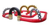 Choques eléctricos inflável pista de corridas de automóveis