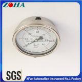 ステンレス鋼材料が付いている100mmの直径Ss圧力メートル