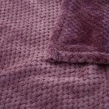 極度の柔らかい固体ワッフルの珊瑚の羊毛毛布