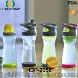 普及した500ml高いホウケイ酸塩ガラスのフルーツの注入のびん、ガラス水差し(HDP-2058)