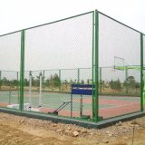 Frontière de sécurité utilisée galvanisée enduite par PVC chaude en gros de maillon de chaîne