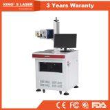 máquina de alta velocidad de cristal de cuero de madera de la marca del grabado del laser del CO2 3D