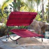 옥외 정원 여가 2인용 침대 그네 의자