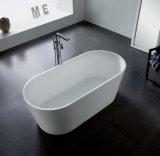 Vasca di bagno indipendente di lucidatura liscia serica di pietra costruita di figura classica dal bagno della pagina