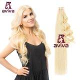 Blonde Kleur 20inch van de Uitbreiding van het Menselijke Haar van de Band van de Uitbreiding Pu van het Haar van de Band van het Haar van Aviva de Maagdelijke Dubbele Zij (av-tp0020-613)