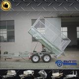 De lage Aanhangwagen van de Vrachtwagen van het Bed met Open Facultatief Type