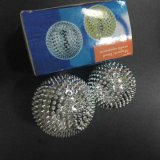 Las bolas de masaje magnético de la Acupuntura puntiagudos las bolas de color plateado 4.7cm