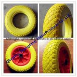 Roda 3.50-6 do pneu da espuma de poliuretano do plutônio