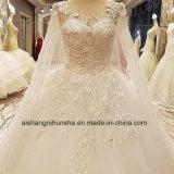 Robe de mariage de luxe la princesse Lace Flower avec le frottement
