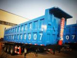 최신 반 판매 3 차축 트럭 트레일러 후방 덤프 트레일러