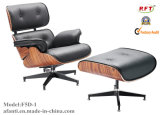 Eames Hotel Leather Wooden Leisure Lounge Cadeira reclinável (F5D-1)