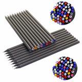 Hb de lápices de madera negra con diamantes de cristal en la parte superior