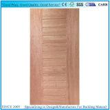 Peau foncée moulée de porte de noix du placage MDF/HDF