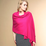 As mulheres Fashion cor normal 100% de malha de acrílico xale de Inverno (YKY4517)