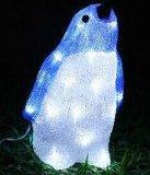 Piscina férias de Natal Urso Solar LED decoração Motif Luz acrílico
