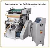 Clinquant chaud de qualité estampant la machine appuyante et de découpage