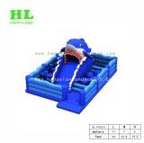 De nieuwe Opblaasbare Speelplaats van de Haai van het Ontwerp Blauwe