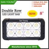 CREE LED Light Bar 8pouce 80W à double rangée voyant des feux de conduite hors route