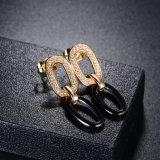 Noir 18K Drop Earring Earring Bijoux Costume de femme
