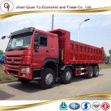 판매에 사용되는 Sinotruck HOWO 8X4 팁 주는 사람 트럭 덤프 트럭